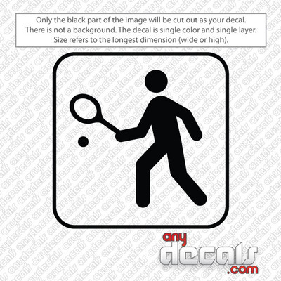 tennis symbol car decals and stickers