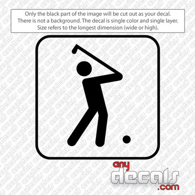 golfing symbol car decals and stickers