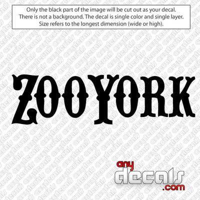 Zoo York Skateboard Car Decal, surf decals, skate decals, surf stickers, skate stickers,skate car decals, car decals, car stickers, decals for cars, stickers for cars