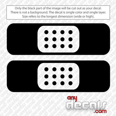 Band Aid Skateboards Car Decal