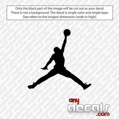 MJ Jumpman Basketball Car Decals