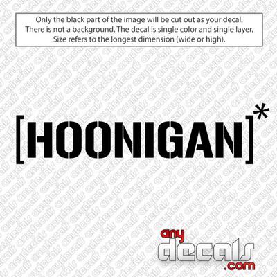 Hoonigan Car Decal