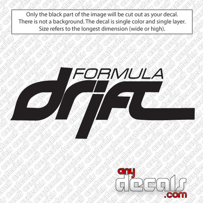 Formula Drift Car Decal