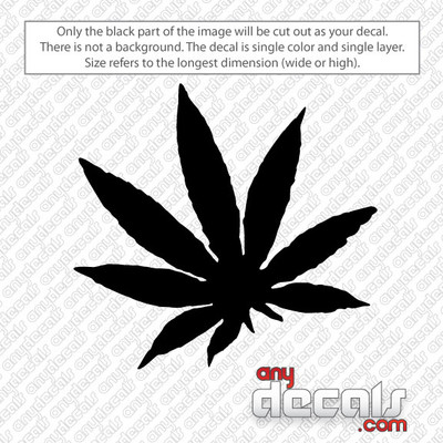 Pot Leaf Car Decal and Car Stickers
