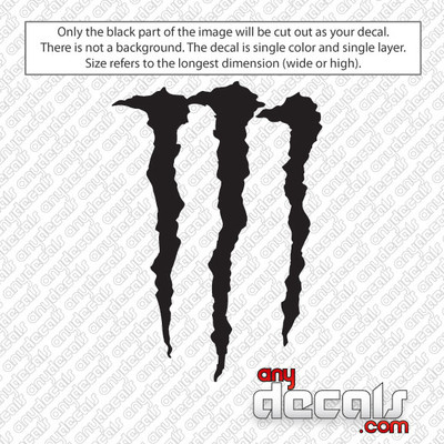 Monster M Energy drink car decals and stickers