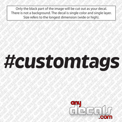 custom hashtag car decals and stickers