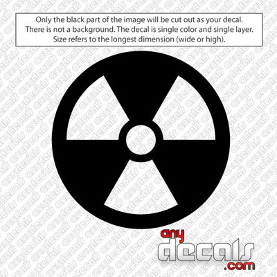 Radioactive Symbol Car Decal