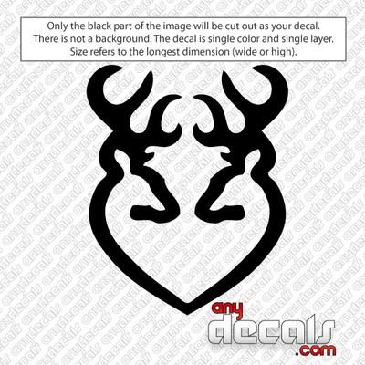 Browning Bucks Heart car decal sticker