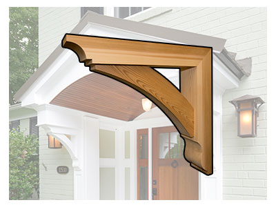 Decorative post beam brackets shelly lighting - Exterior structural wood brackets ...