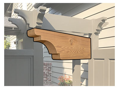 Cedar Brackets And Corbels Wooden Brackets Wood Brackets