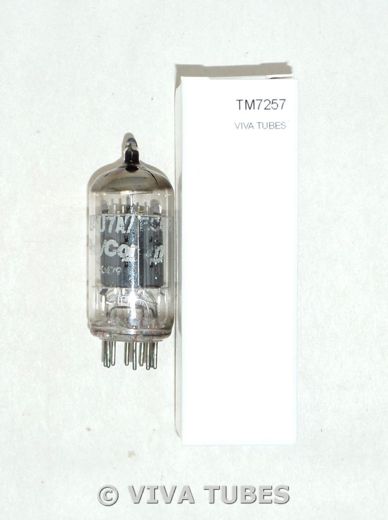 NOS Mullard Gt. Britain 12AU7A/ECC82 LONG Gray Plate Small Gf2 Vacuum Tube