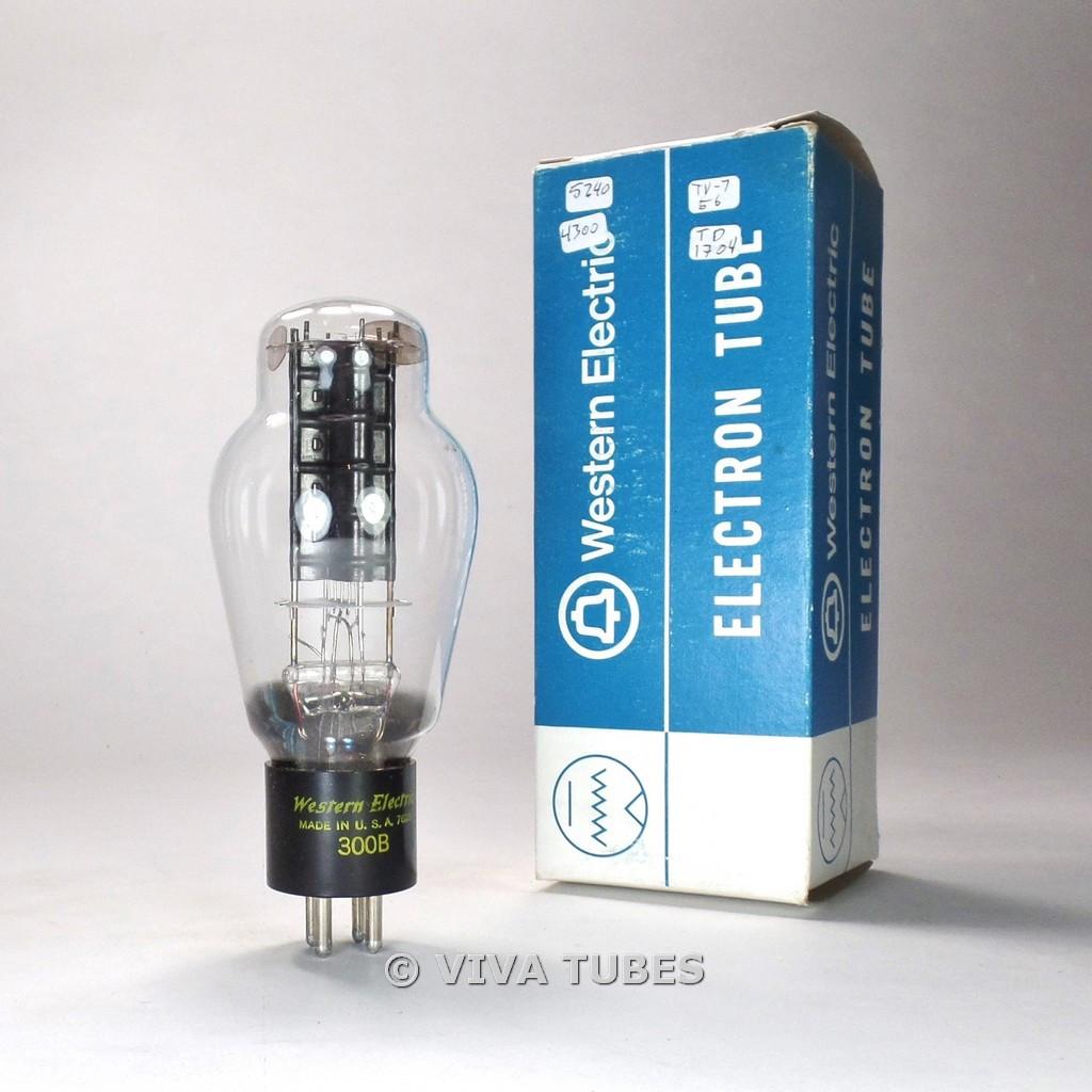 True NOS NIB Western Electric USA 300B Black Plate 1 Bottom O Get Vacuum Tube