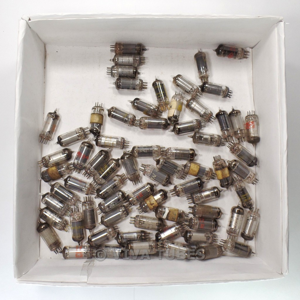 Lot of Type 12BE6 - 70 Untested, Vintage, Loose Vacuum Tubes