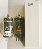 Matched Pair RCA USA 5963 [12AU7] Black Plate [] Foil Strip Get Vacuum Tube 90%