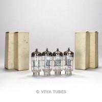 NOS NIB Date Matched Quad (4) RFT Germany / Tungsram CV4003 [12AU7] Vacuum Tubes