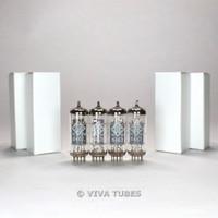 True NOS Date Matched Quad (4) Telefunken <> Bottom 6463 Wing Plate Vacuum Tubes