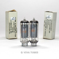 True NOS NIB Matched Pair RCA USA JAN-6CL6 Grey Plate Top O Get 3 Mica Tubes