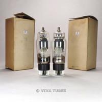 True NOS NIB Matched Pair Valvo USA 6CN6/EL38 Grey Plate Bottom 2 O Get Tubes