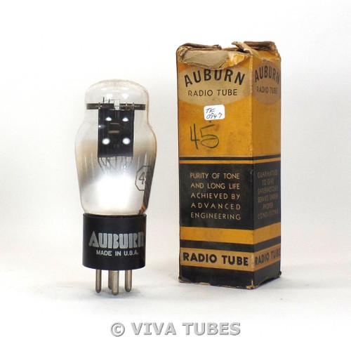 True NOS NIB Auburn USA Type 45 Black Plate D Foil Get Vacuum Tube 100+%