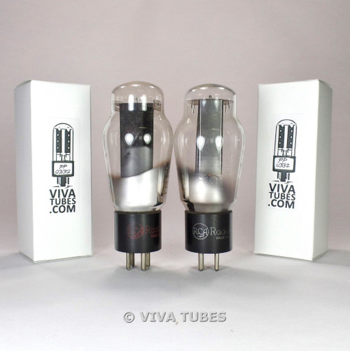 Tests NOS Matched Pair RCA USA 5Z3 Hanging Filament Vacuum Tubes 100%