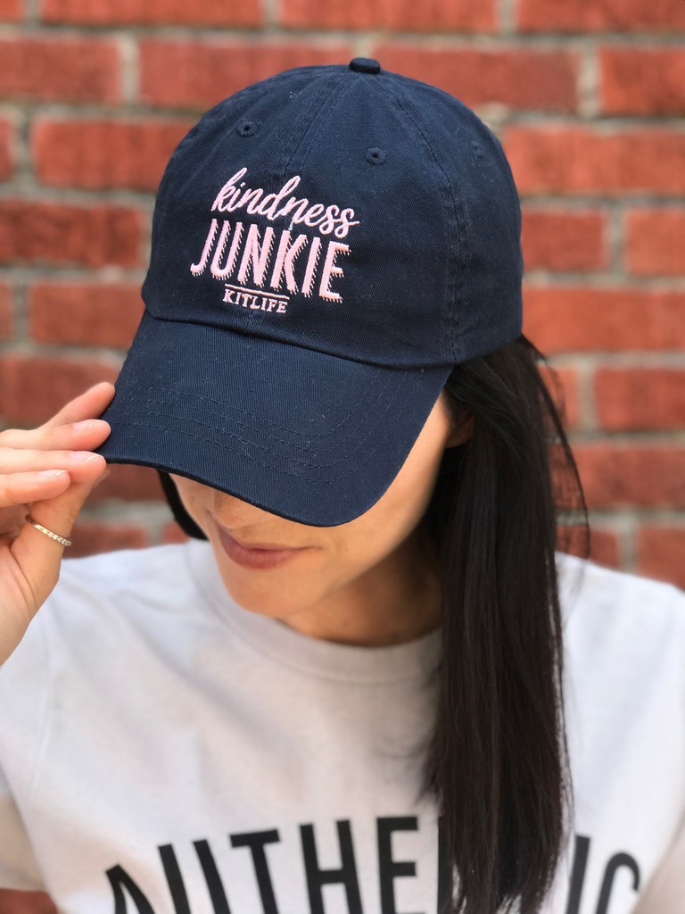 kindness junkie woman baseball hat