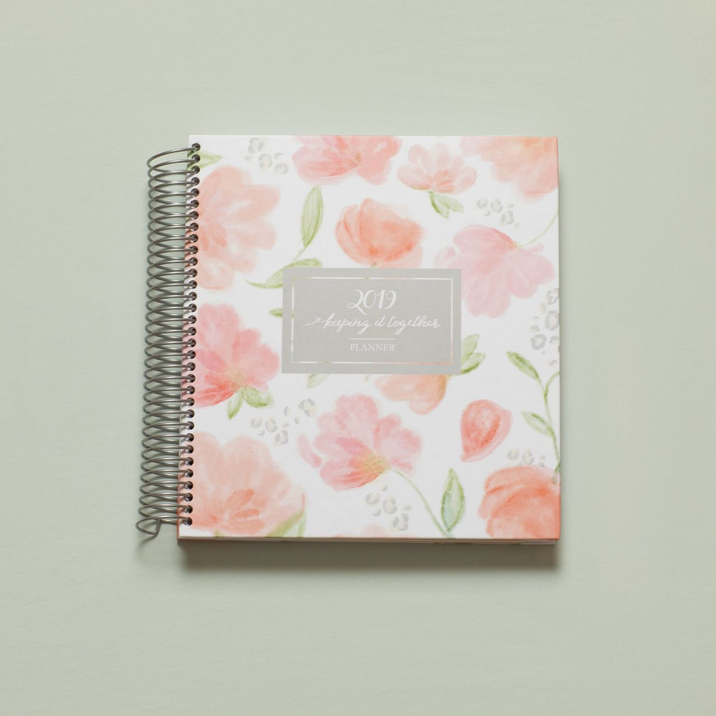 2019 weekly keeping it together planner - floral cover