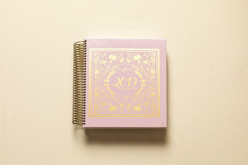 2019 daily keeping it together planner - pink and gold foil cover