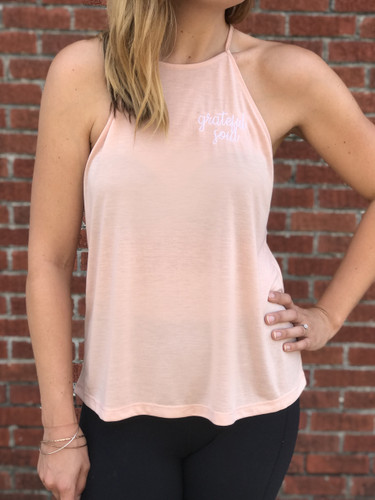 high neck designer tank top