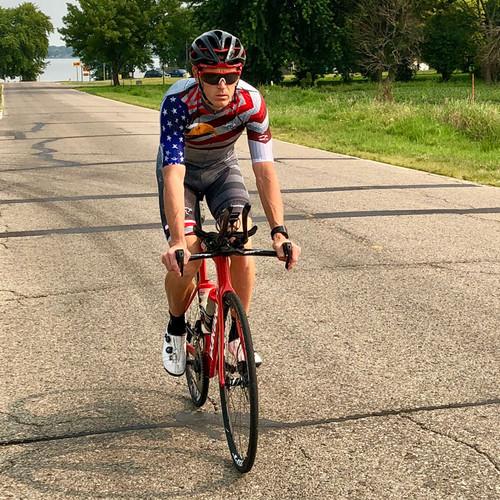 Matt Hanson Merica Pro Cycling Bibs - RED