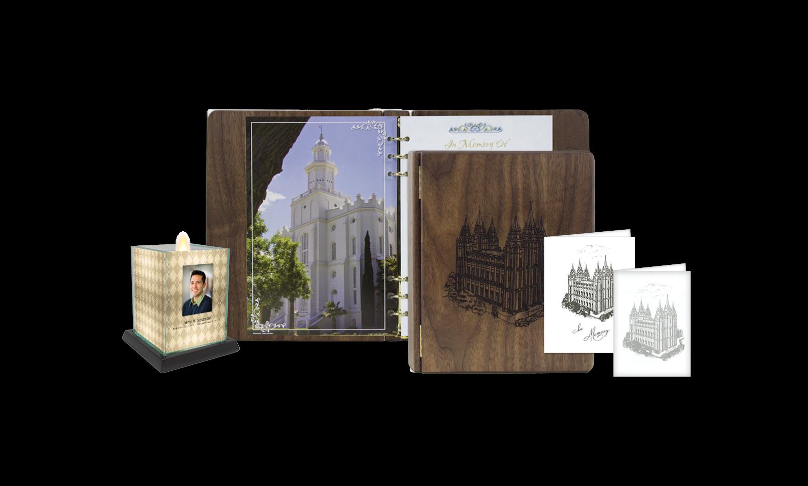 ROL Latter Day Saints Walnut Engraved Hardwood Series 150 LDS
