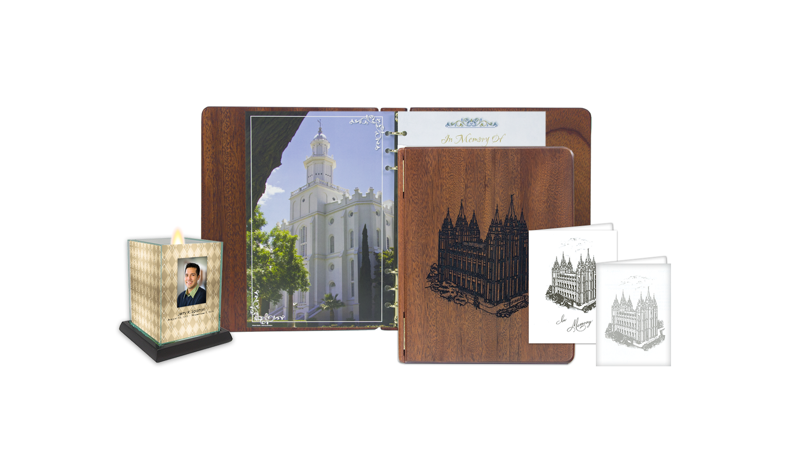 ROL Latter Day Saints Red Stained Mahogany Engraved Hardwood Series 153 LDS