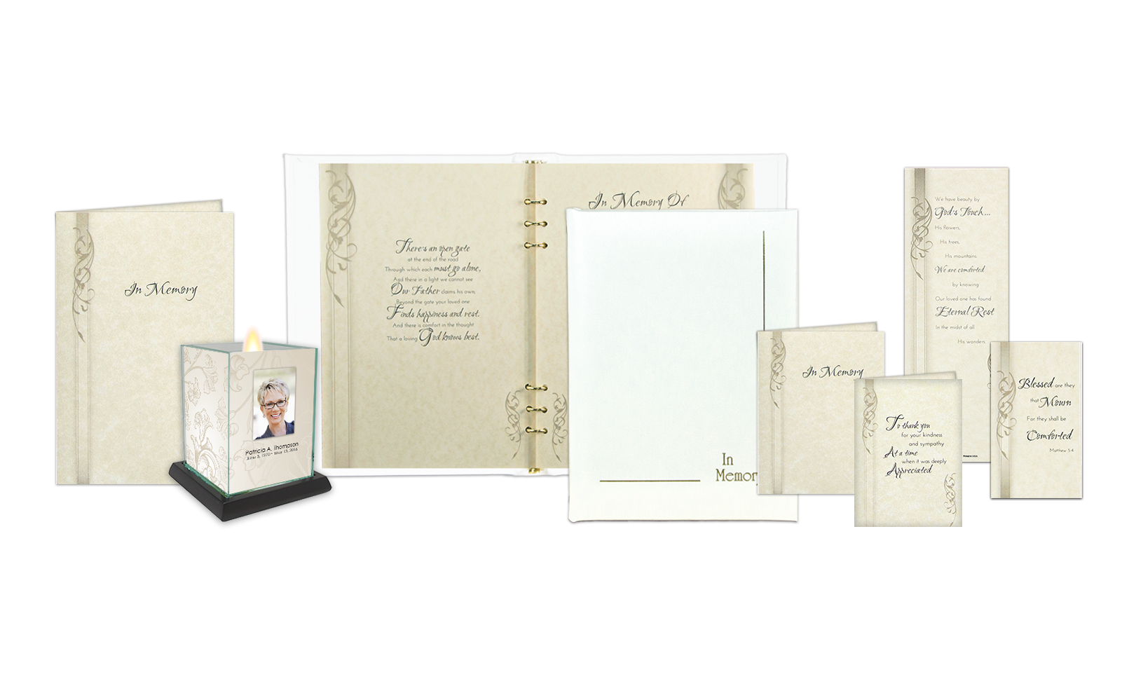 ROL In Memory Border White Leather Series 168 N