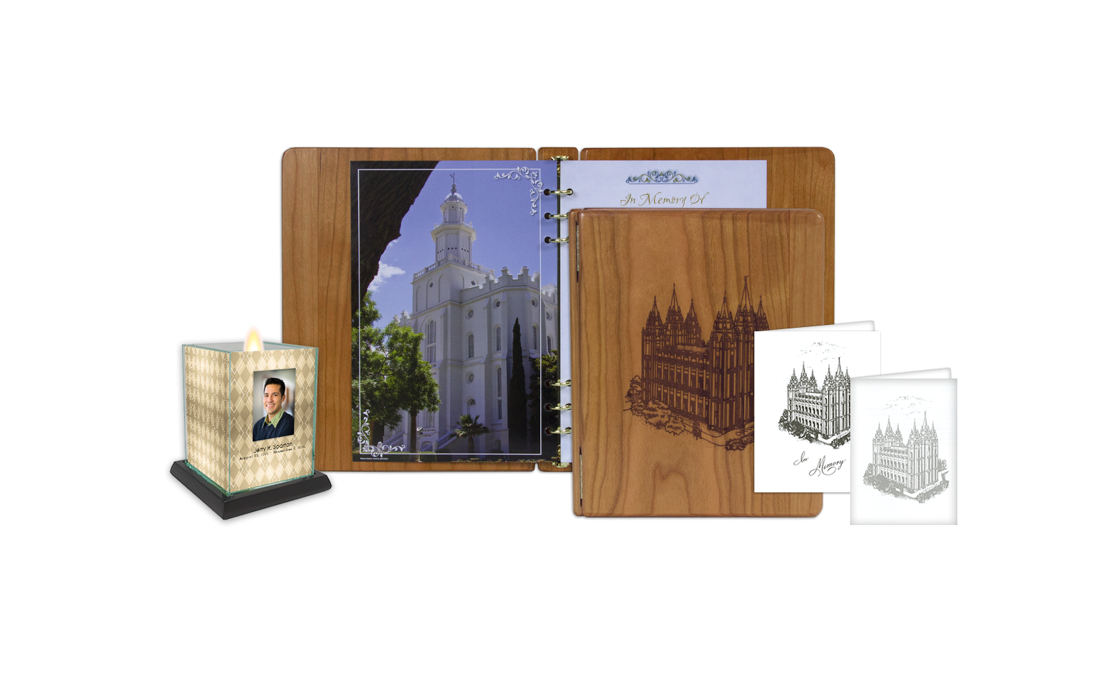 ROL Latter Day Saints Stained Cherry Engraved Hardwood Series 177 LDS