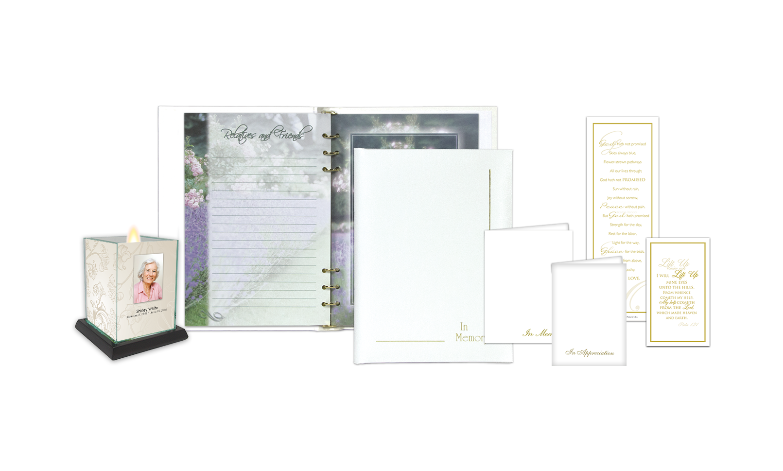 ROL In Memory Border with Full Color Interior White Series 186 FG