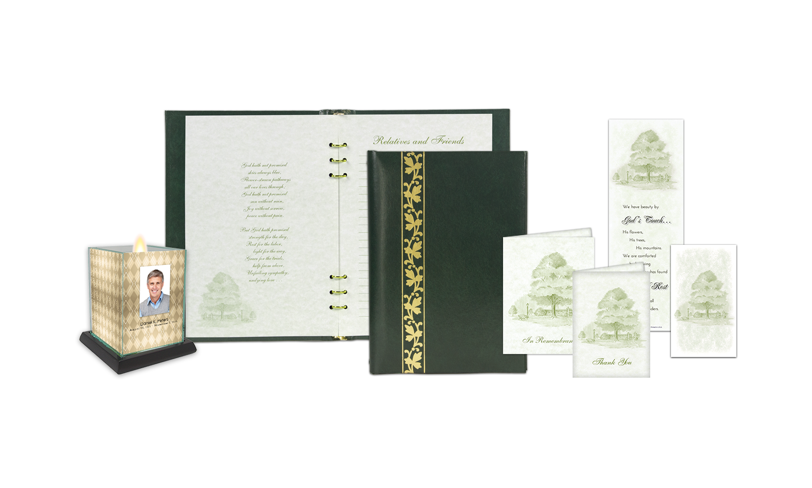 ROL Gold Leaf Filigree Green Series 202 PSG