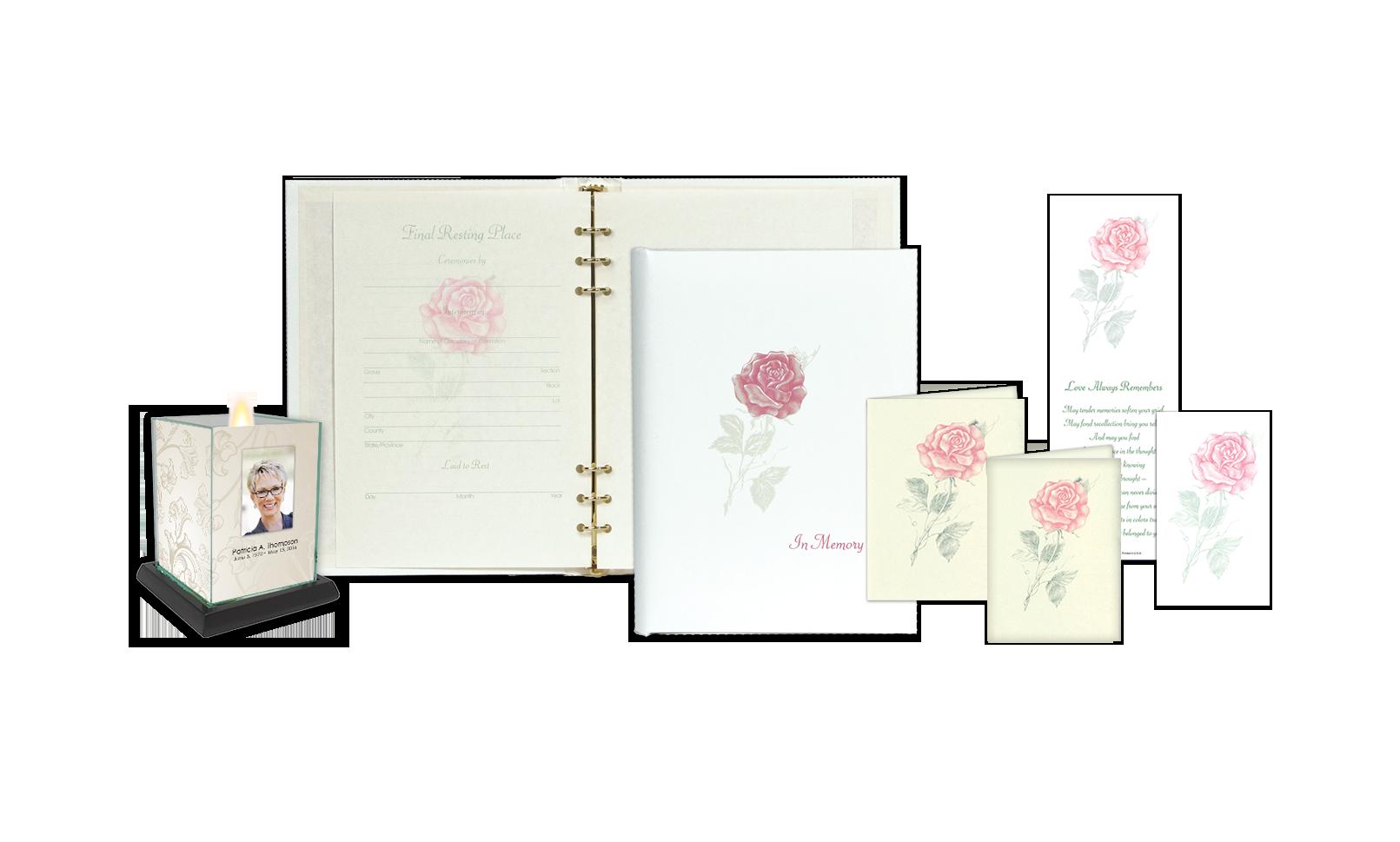 ROL Full Bloom Pink Rose Series 235 RP