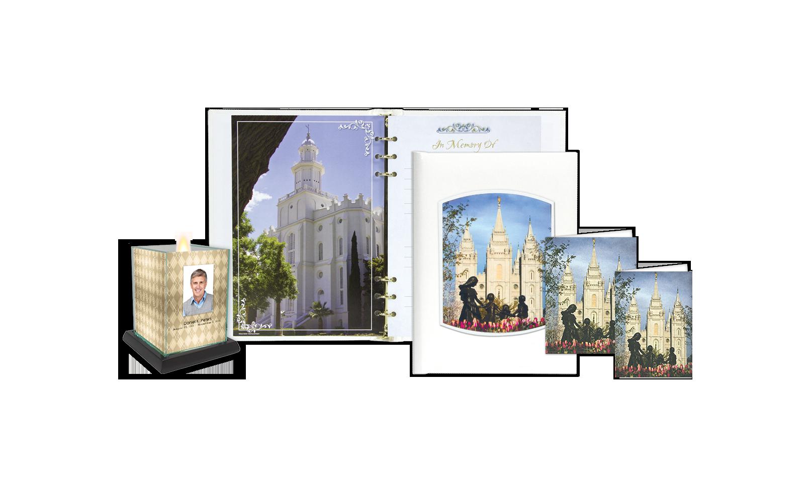 ROL Latter Day Saints Salt Lake City Temple Embossed Series 304 LDS