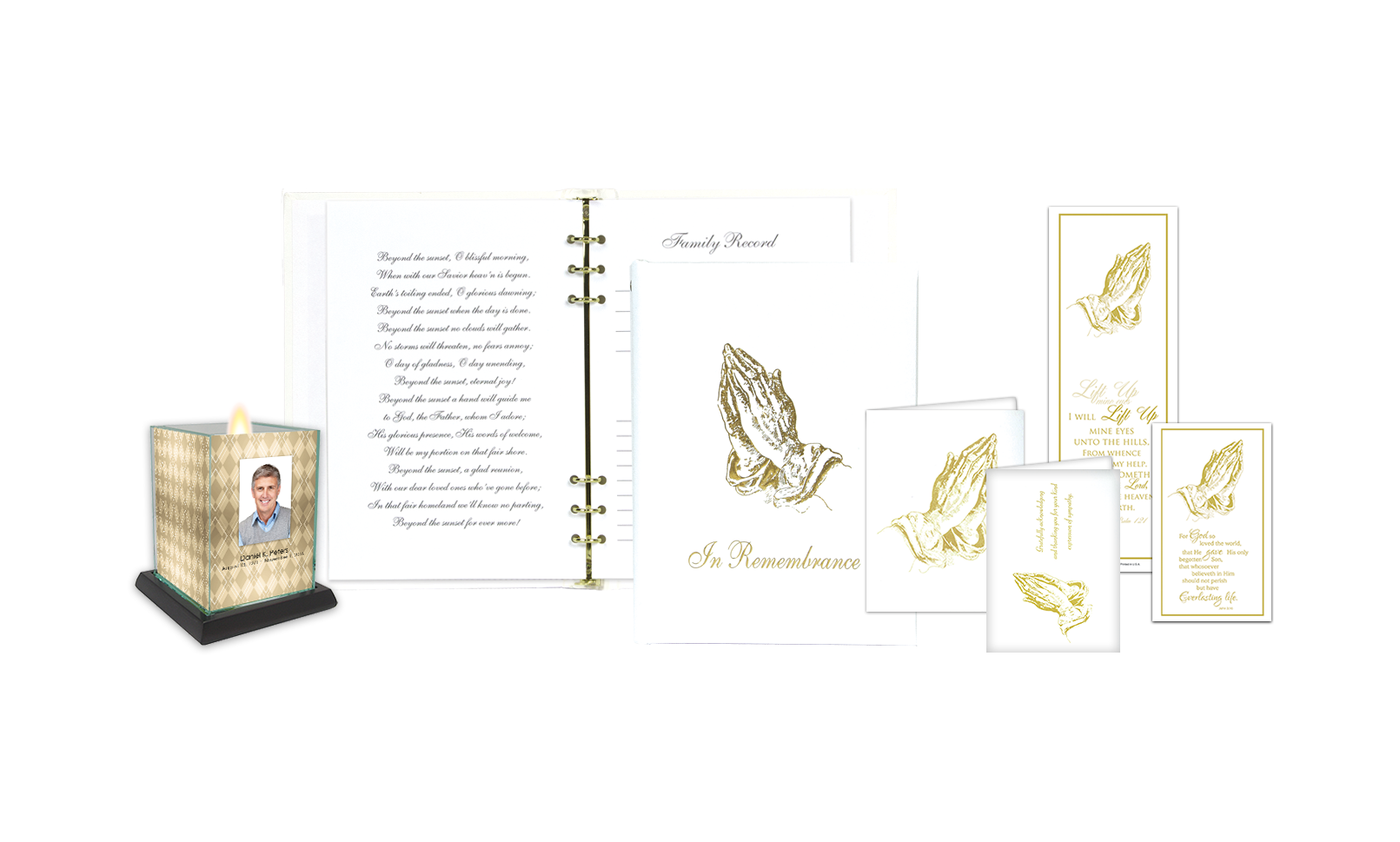 ROL Foil Stamped Praying Hands Series 314 IC