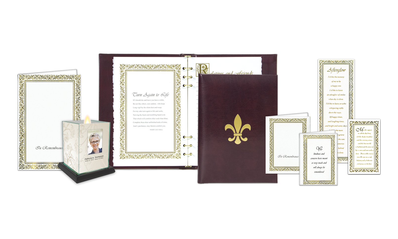ROL Fleur de Lis with Deckle Edge Interior Burgundy Leather Series 323 DK