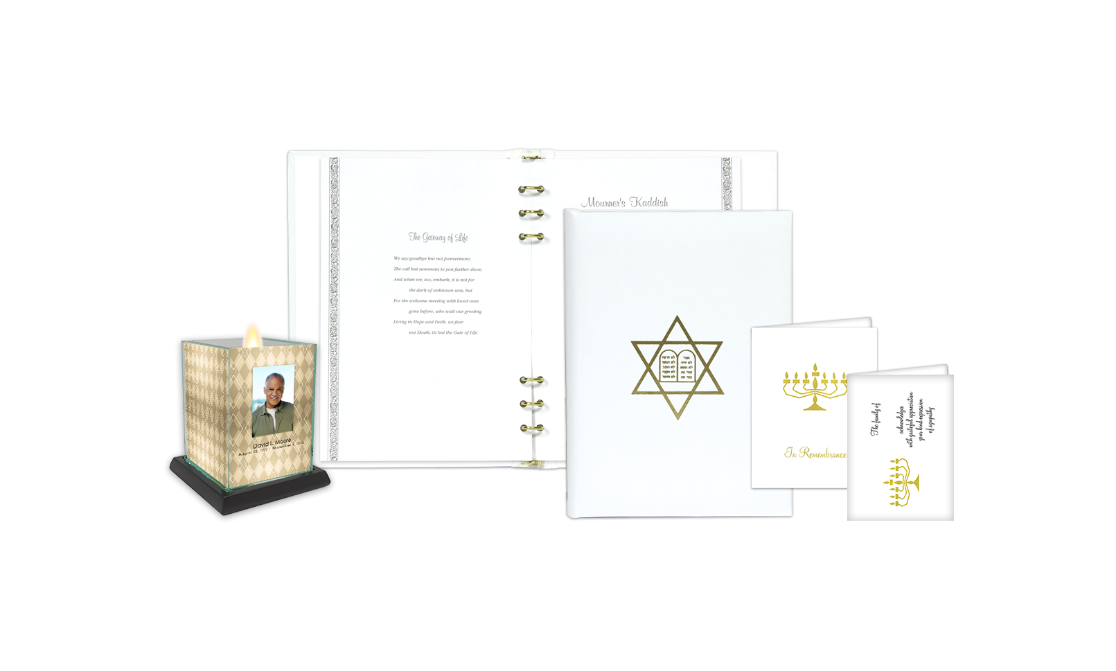 ROL Foil Stamped Jewish Star of David White Series 67 JW