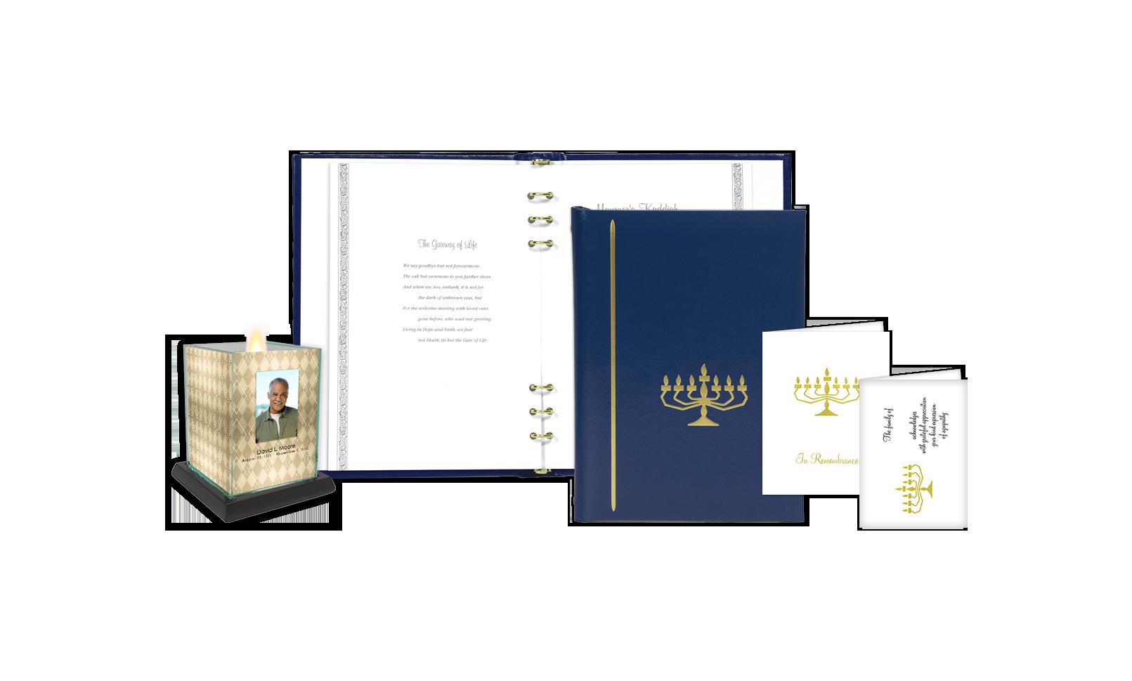 ROL Jewish Menorah Blue Series 70B JW