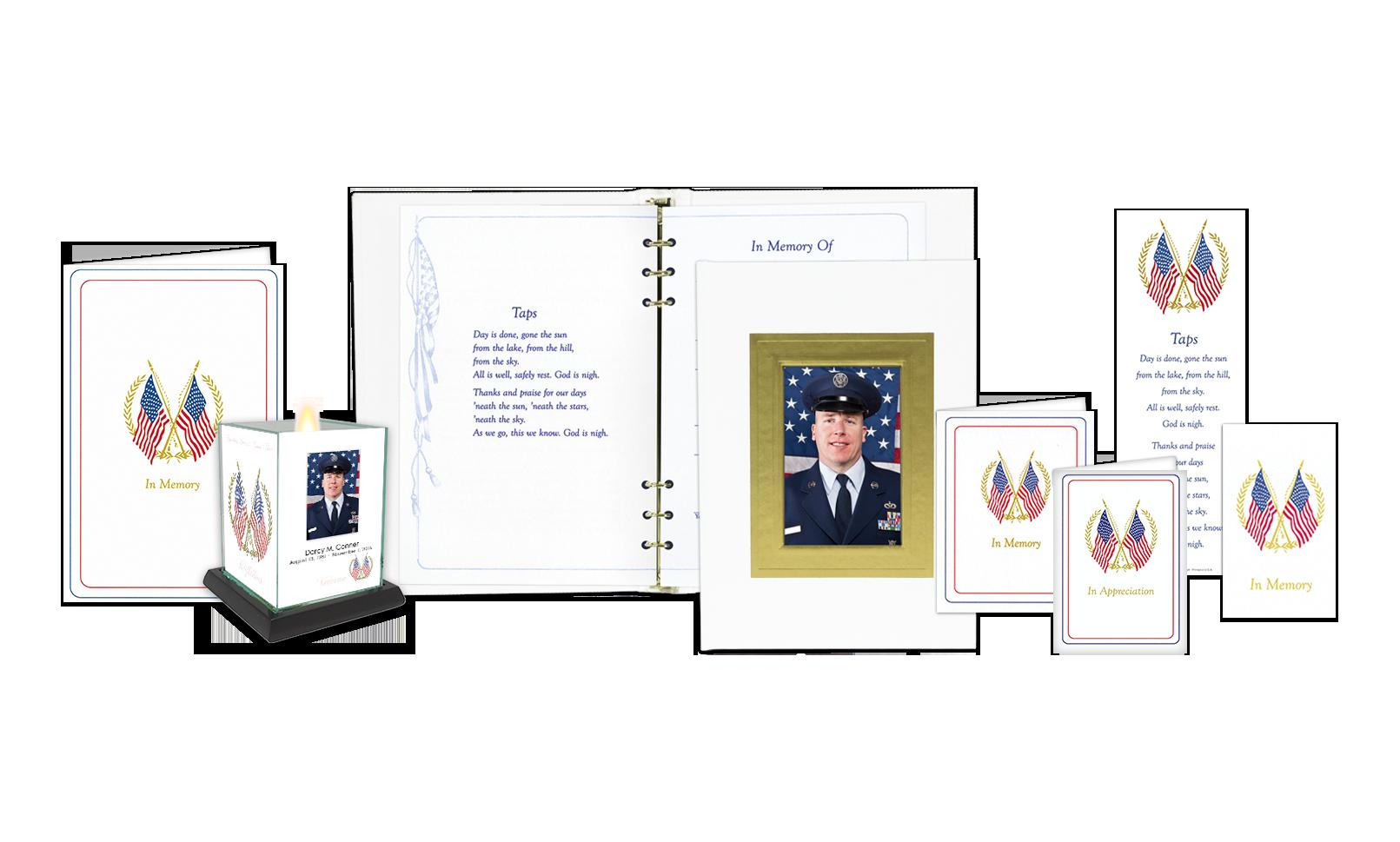 ROL Picture Frame White Embossed Veterans Series 722 V