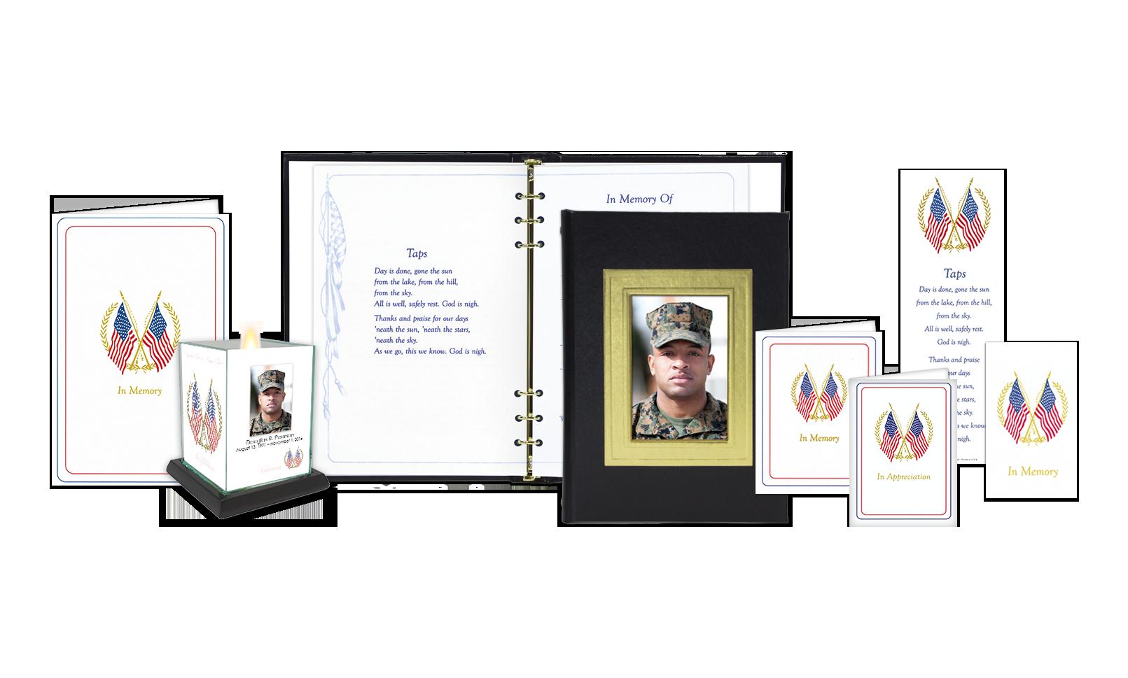ROL Picture Frame Black Embossed Veterans Series 722BLK V