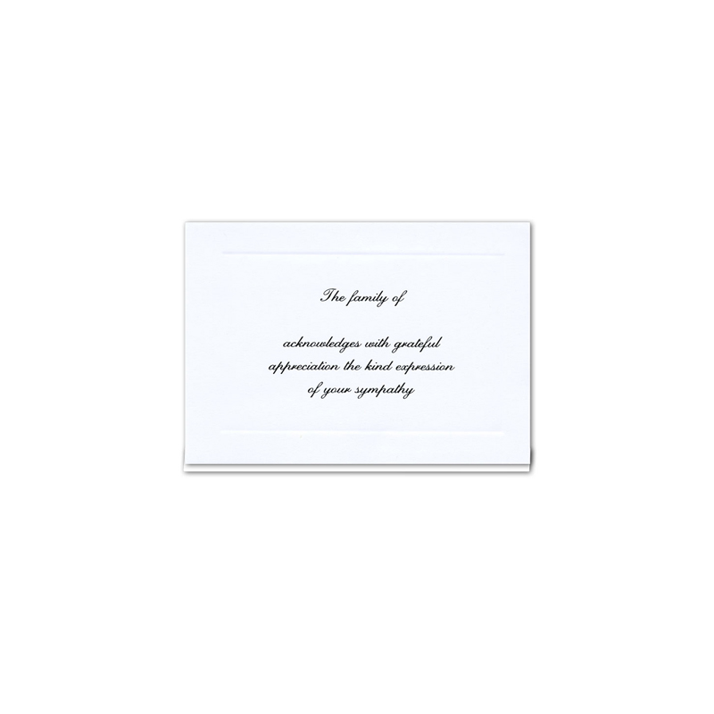 Acknowledgement Card 158
