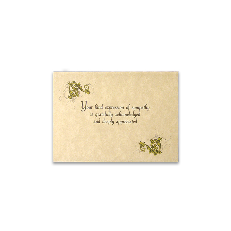 Acknowledgement Thank You Card 37 Boxed in 25