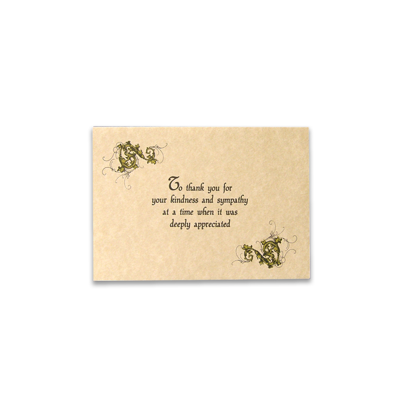 Acknowledgement Thank You Card 39 Boxed in 25