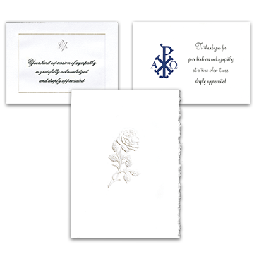 Embossed or Thermographed Acknowledgement Cards