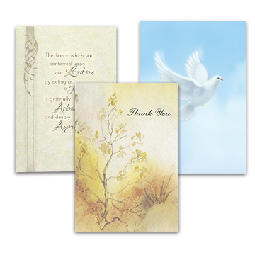Pallbearer Acknowledgement Cards