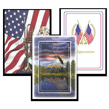 Patriotic Acknowledgement Cards