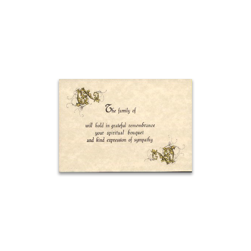Acknowledgement Thank You Card 707 Boxed in 25